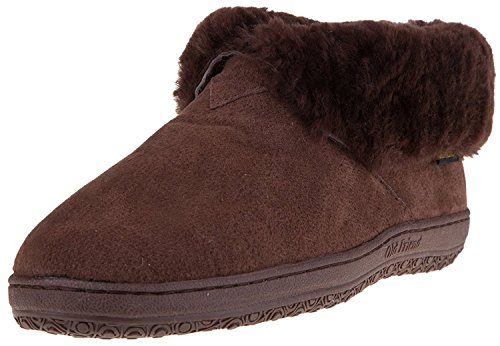 Old Friend Men's Bootee Slipper (11 2E US, Chocolate)