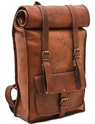 vintage crafts Leather Backpack College Backpack Leather Rucksack School Backpack Travel Leather Backpack Leather...
