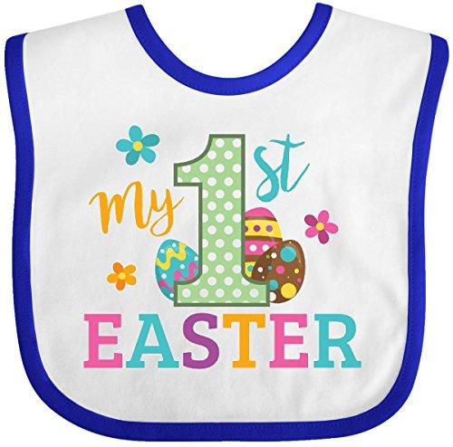 Easter Bib (Inktastic - My 1st Easter Baby Bib White/Royal)
