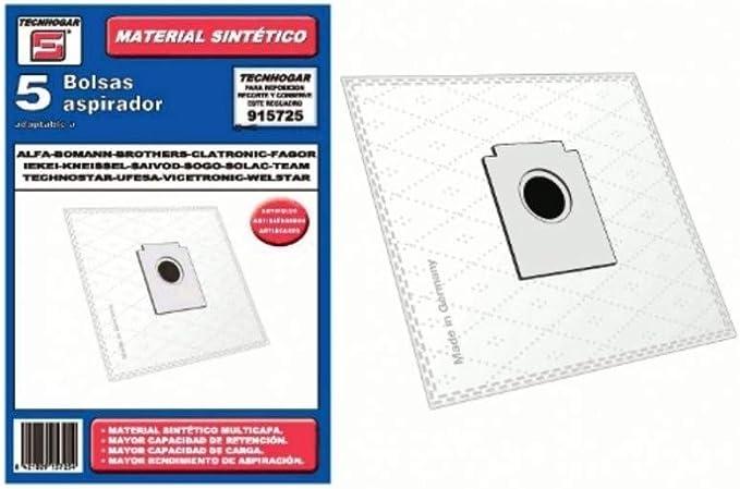 Recamania Bolsa Sintetica Aspirador AEG Fagor Brothers 5 Unidades 915725: Amazon.es