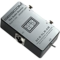 Sescom SES-XLR-AB Balanced Audio Pro Grade XLR A/B Passive Switch, 2 Female XLR to 1 Male XLR