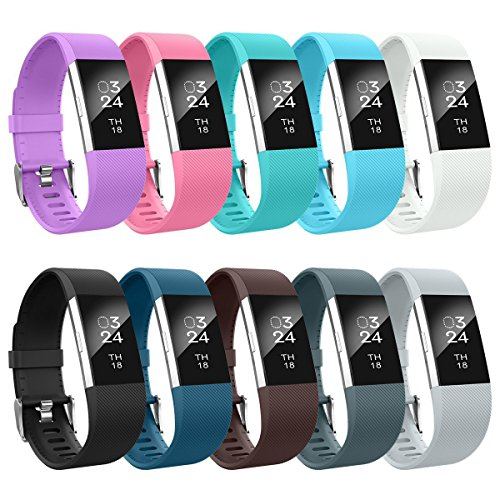 AIUNIT Fitbit Charge 2 Bands, Fitbit Charge 2 Accessory Bands Small Replacement Wristbands for Fitbit Charge 2 Bracelet Strap Band for Women Men Boys Girls