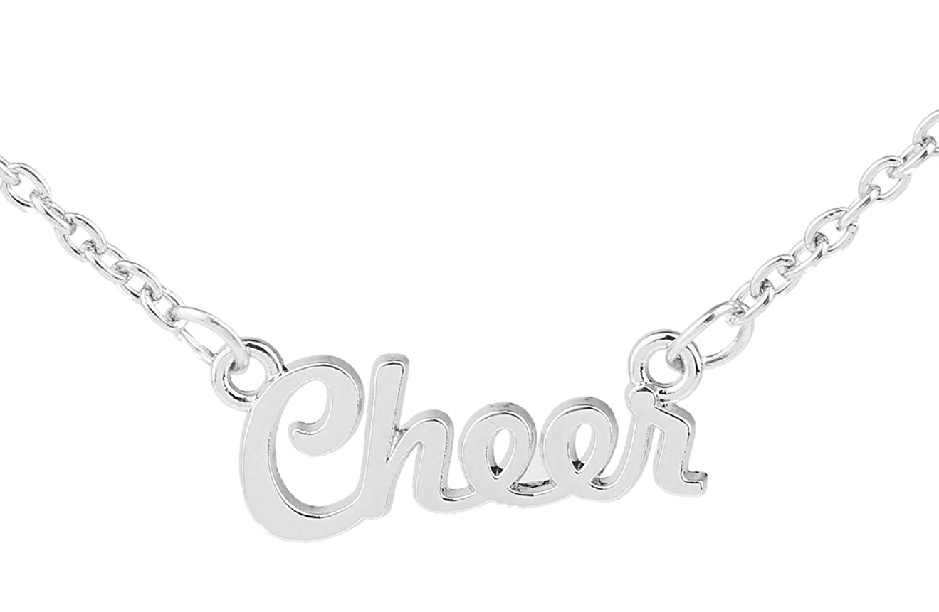 Trendy Popular Style Chain Message Cheer Pendant Necklace for Woman Gift Jewelry Qiju
