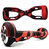 """Marval Power Silicone Protective Cover Case Skin for 6.5"""" Self Balancing Scooter Hoverboard Black-red"""