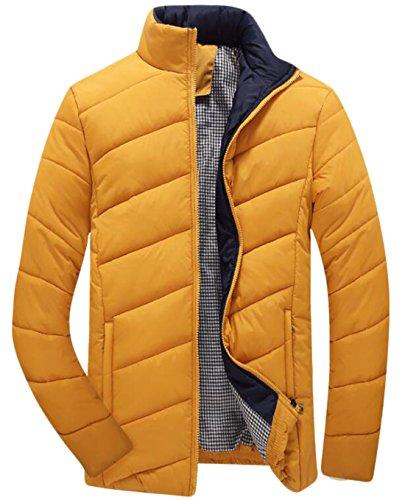 US Slim Coat Collar EKU Yellow M Winter Men's Jackets Fashion Stand Down axq1SB1wv