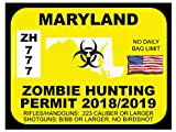 Maryland Zombie Hunting Permit(Bumper Sticker)