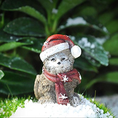 Miniature Fairy Garden Snowflake the Kitten - My Mini Garden Dollhouse Accessories for Outdoor or House Decor