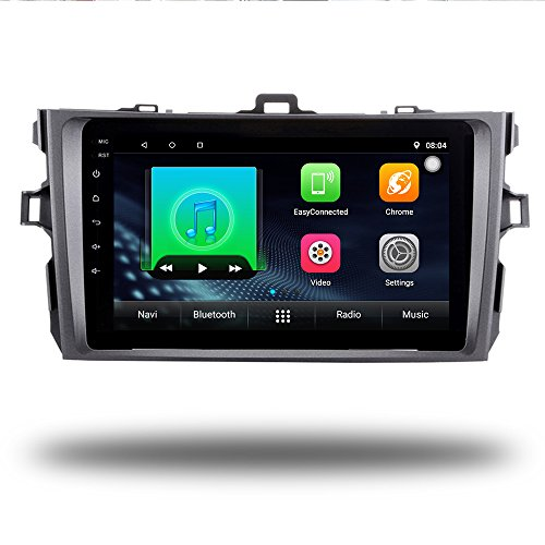 Android 7.0 Quad Core Car GPS Radio Player Navi for Toyota Corolla 2007-2011 Car Stereo Head Unit GPS Navigation Bluetooth WIFI Navi (Android 7.0 2+32G for Corolla 07-11)