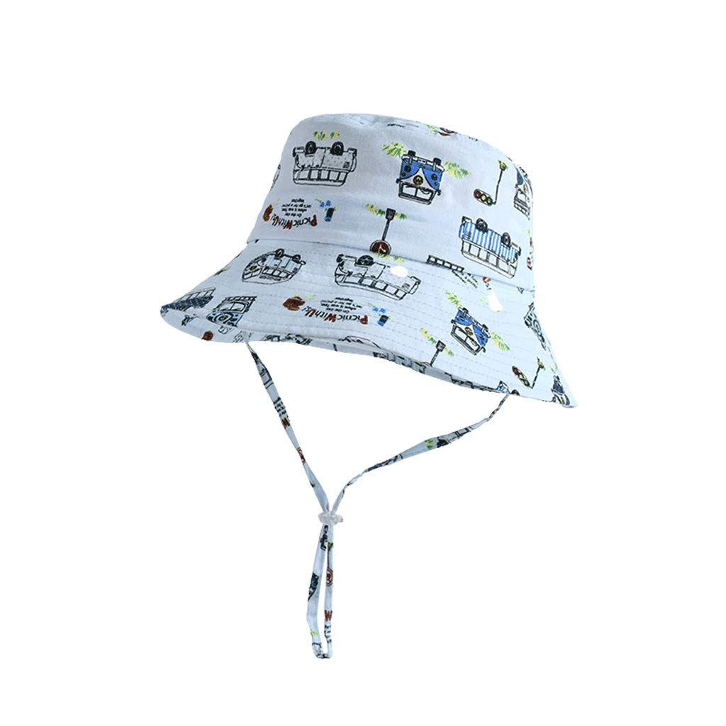 Py Chapeau de Soleil 3-6 Ans Chapeau Enfant Chapeau de Soleil été Dessin animé Mignon Chapeau de pêcheur Enfant Chapeau de Soleil
