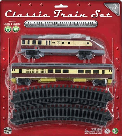 WowToyz Classic Train Set - Diesel Engine with Passenger Car