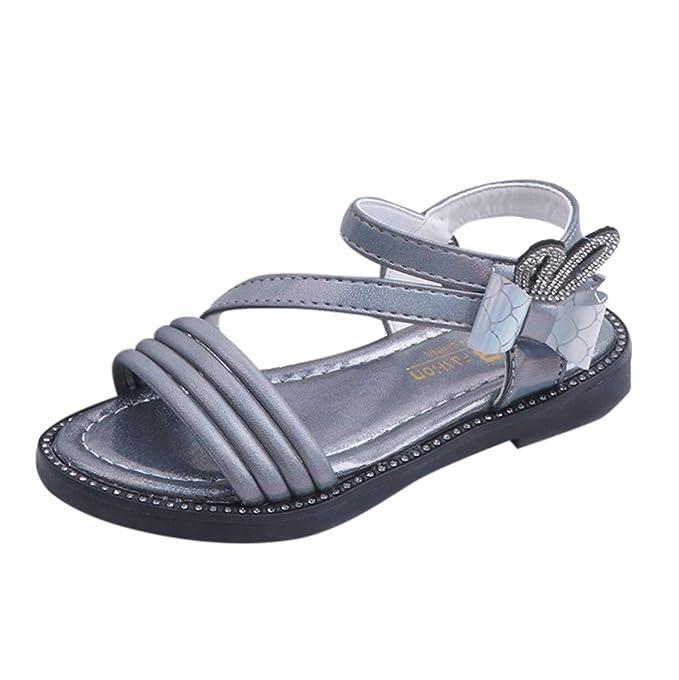 8467689f47 Soupliebe Sandalias Niña Verano Niños pequeños Bebés Sandalias Romanas de niña  bebé de Flores Zapatos de