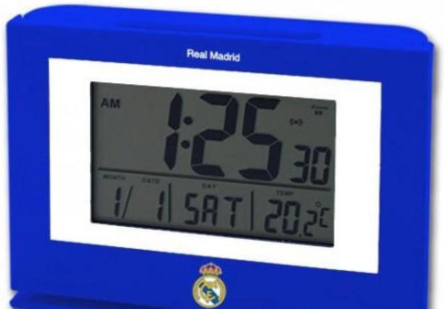 Seva Import Real Madrid - Despertador, Color Azul/Blanco: Amazon.es: Deportes y aire libre