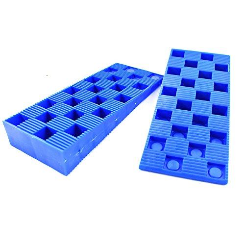 48 x bluee Interlocking Wedges PACK OF 48 x blueE WEDGIT® PLASTIC INTERLOCKING RIBBED WEDGES