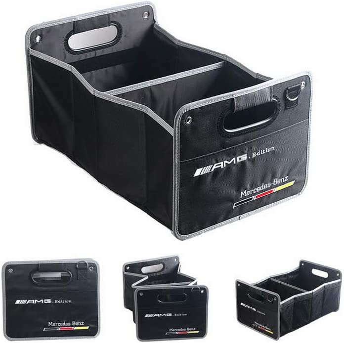 YIKAKA Auto Trunk Organizer Collapsible Cargo Storage Container Black for Mercedes-Benz CLA CLS Class