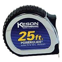 Cinta métrica Keson PG1830 de la serie Chrome con hoja de acero revestida con nailon (Graduaciones: pies, pulgadas, 1/8), 1 pulgada por 30 pies