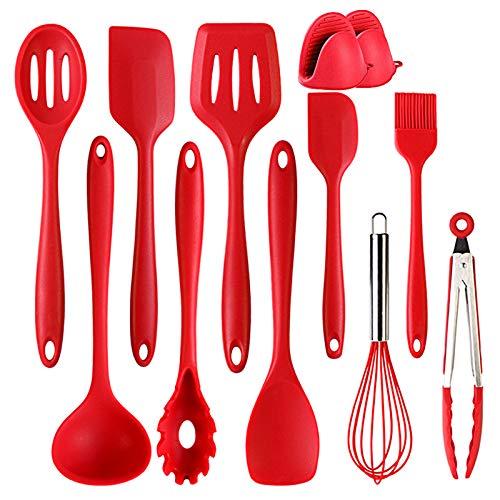 10 Silicona Utensilios De Cocina Cooking Tools – Purga Cuchara/Eggbeater/Kleine Cepillo/rosa schnappen/Kleine Hoja…