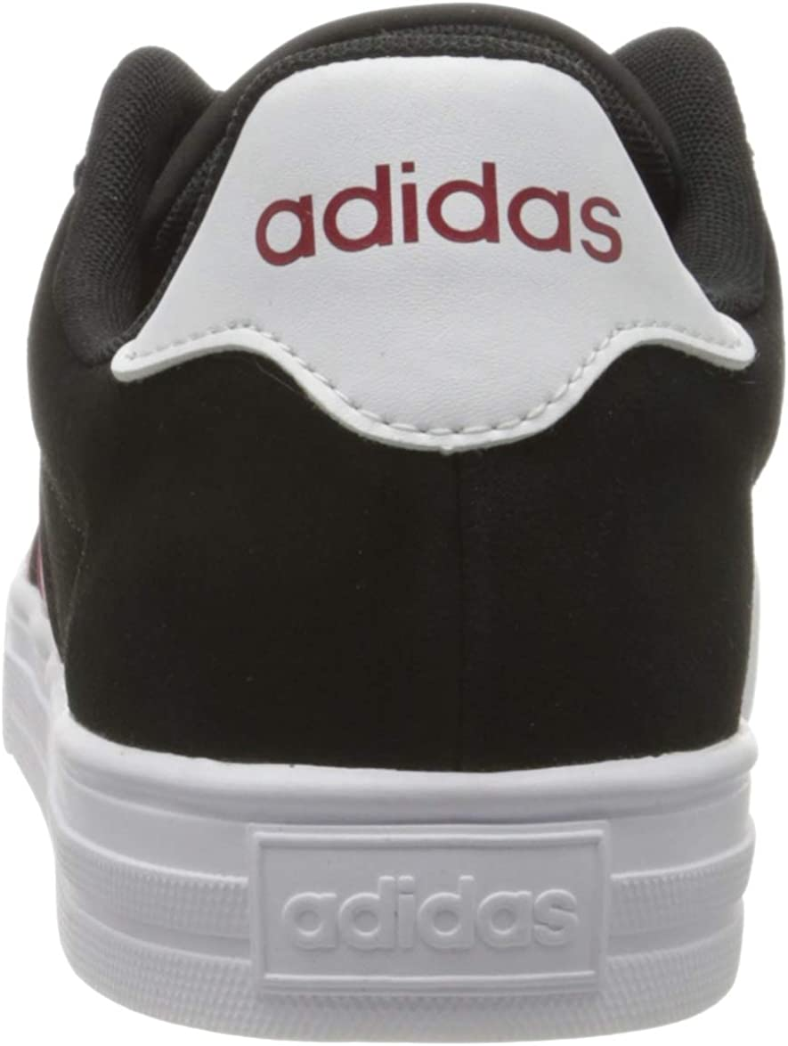 Adidas Herren Daily 2.0 Sneaker Core Black Active Maroon Footwear White