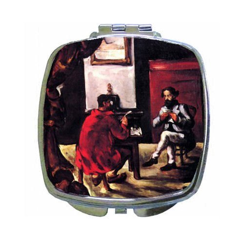 Paul Alexis Reads Before Zola Compact Mirror By Paul Cezanne