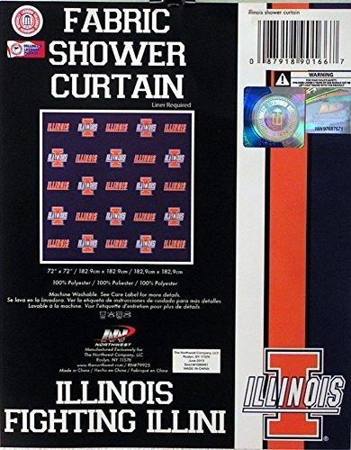 - NCAA Illinois Illini Shower Curtain