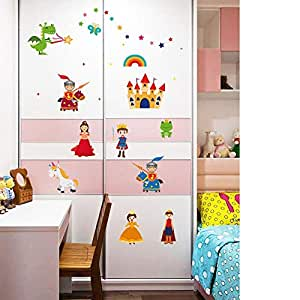 DIY Removable Wall Stickers For Children room Home Decor -Castle Princess Prince