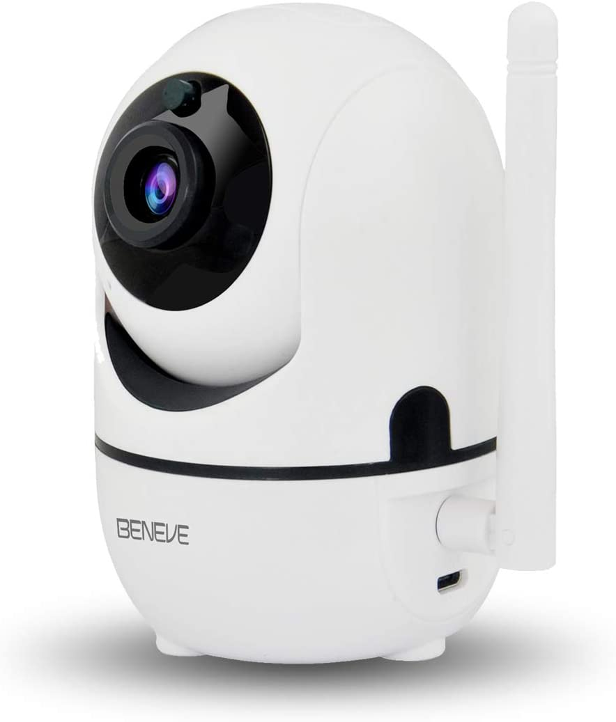 Wireless Security Camera Pet Camera Build-in Free 16G SD Card,BENEVE 2MP 1080P WiFi Camera Indoor,Baby Monitor,Two-Way Audio,Remote Access,Motion Tracker,Activity Alert,Cloud Storage Update Version