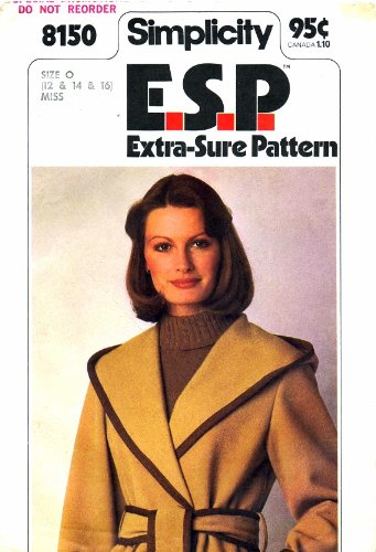 - Simplicity 8150 Sewing Pattern Misses Front Wrap Jacket Size 12 - 14 - 16