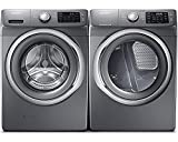 Samsung Appliance Stainless Platinum Front Load Laundry Pair with WF42H5200AP 27