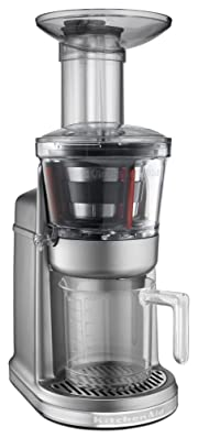 KitchenAid KVJ0111CU Maximum Extraction Juicer, Contour Silver