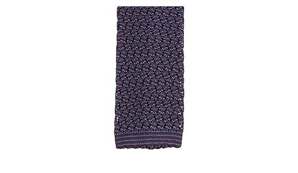 Wine//Grey KJ Beckett Mens Silk Two Tone Knitted Tie