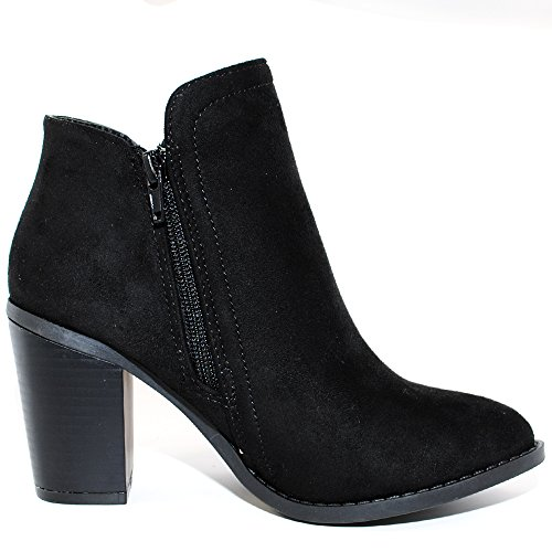 TRENDSup Women's Suede Fashion Black Booties Collection FYYqrwOa