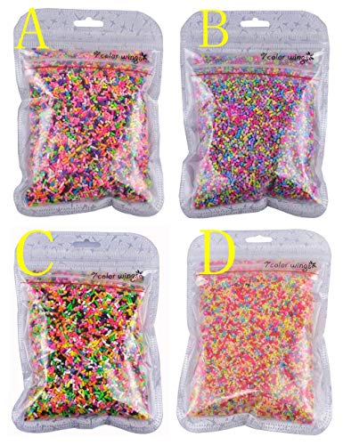 (7 COLOR WINGS 100g Colorful Fake Candy Sweets Sugar Sprinkles Decorations for Fake Cake Dessert Simulation Food (A) )