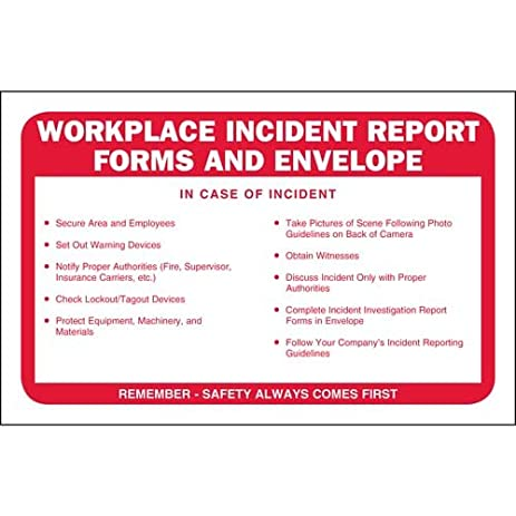 AmazonCom  Workplace Incident Report Forms Packet Qty  Units