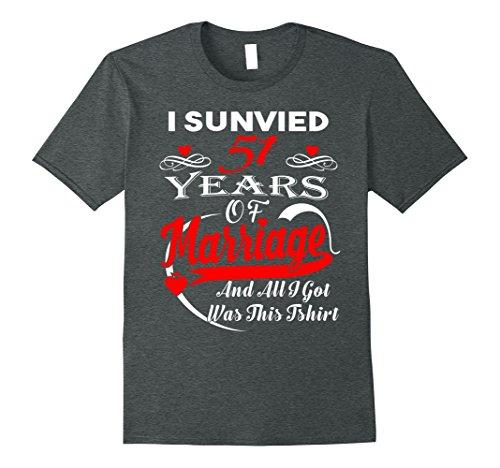 Mens 50th Wedding Anniversary Gift For Women Men T-shirt XL Dark Heather (Unique Gifts For 50th Wedding Anniversary)