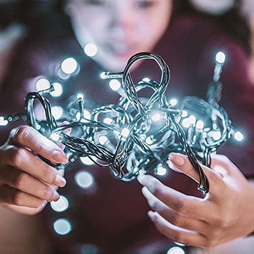 TOFU Catena Luminosa per Interni e Esterni, 100 LED 10m Illuminazione Giardino con Risparmio, IP44 Impermeabile Catena di Luci, Casa, Feste, Matrimonio, DIY, Natale