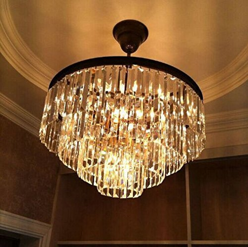 Lumos 12 Lights Luxury Modern Crystal Chandelier Pendant Ceiling Light for Dining Room, Living Room … (12 Lights) by Zgear (Image #2)