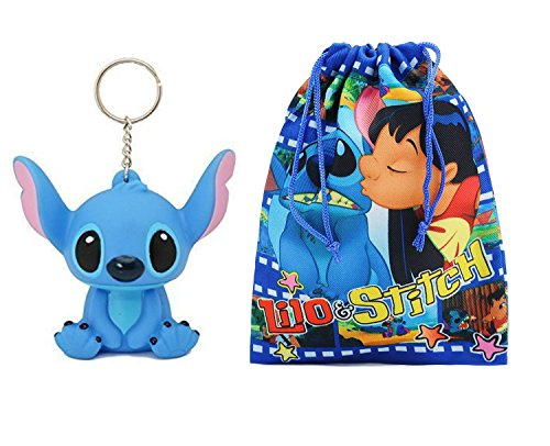 Disney Stitch 3D PVC Figure Keychain. 3