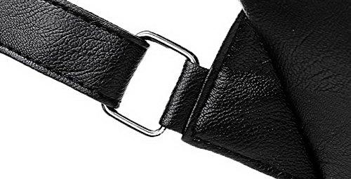 FemmeSacs Noir Zippers Poignée à Bandoulière AalarDom Supérieure à Rétro Sacs FfaqHxdH
