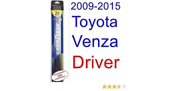 Amazon.com: 2009-2015 Toyota Venza Wiper Blade (Driver) (Goodyear Wiper Blades-Hybrid) (2010,2011,2012,2013,2014): Automotive
