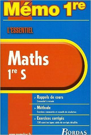 En ligne MEMO ESSENTIEL MATHS 1ERE S NC    (Ancienne Edition) pdf ebook