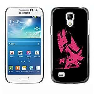 "For Samsung Galaxy S4 Mini (NOT for regular S4) , S-type Rosa del empuje"" - Arte & diseño plástico duro Fundas Cover Cubre Hard Case Cover"