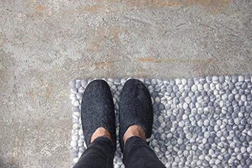 House Sheep Bedroom Man 100 Classic Slippers Kids Women Handmade Wool for Shoe Egos Black Natural Slippers gxYdqwz