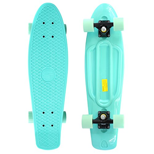 Scale Sports 27' Skateboard Complete Pastel Street Retro Cruiser Classic Plastic Deck Mint