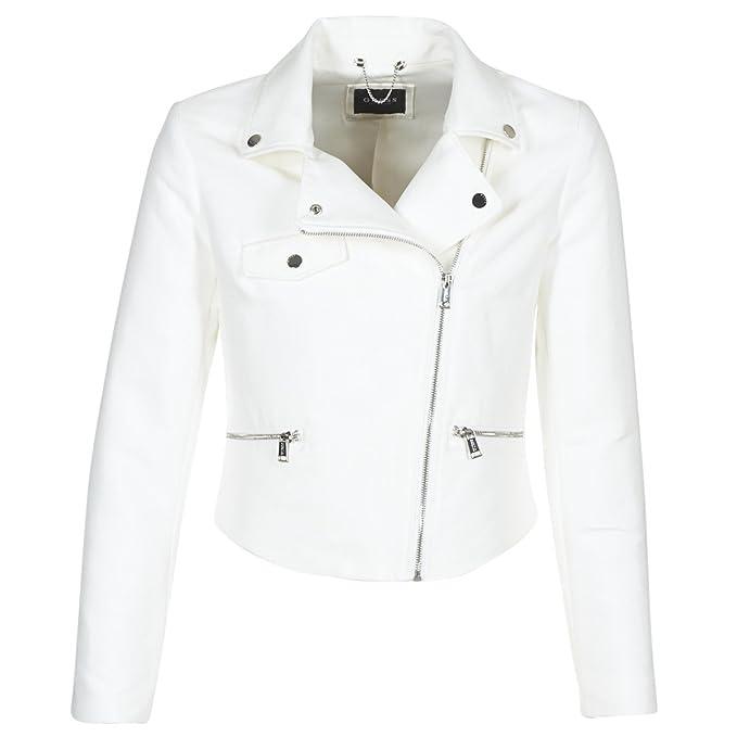 GUESS Chaqueta blanca con cremallera - XS, BIANCO