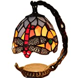 5 Inch Tiffany Colorful Stained Glass Lamp Mini Dragonfly Night Light