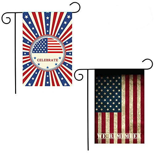 Shmbada American 4th of July Garden Flag, Stars and Stripes
