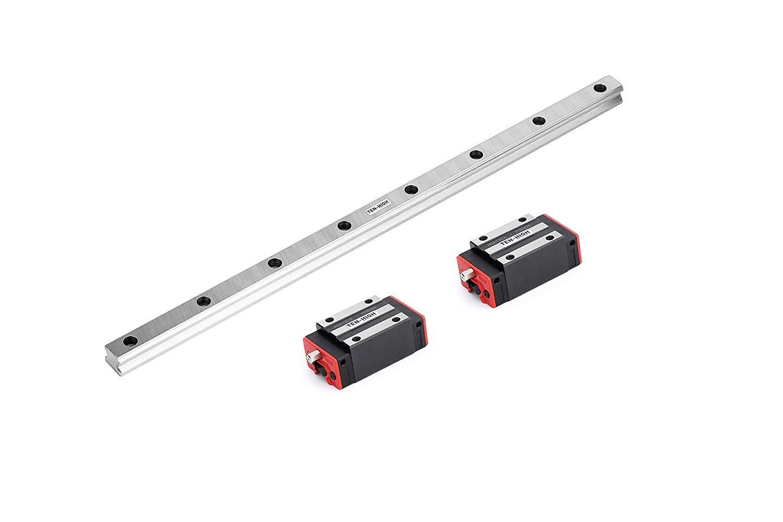 HSR15 1900mm TEN-HIGH CNC parts HSR30-850mm 33.46 inch Linear Guideway Rail+2x HSR30CR Square type carriage bearing block