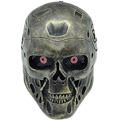Charmgle Halloween Terminator T800 Robot Paintball Airsoft Full Protection Terminator Mask Cospaly Halloween -