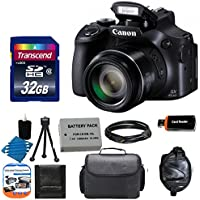 Canon PowerShot SX60 HS Full HD 60p Video Digital Camera + Case + Extra Battery + 32GB Class 10 Card Complete Deluxe Accessory Bundle And Much More Advantages Review Image