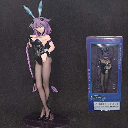 Hyperdimension Neptunia Purple Heart Bunny Ver Action Figure 1/4 Scale Painted Figure Black Heart Bunny Vere PVC Figure