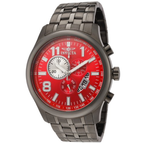 Invicta Men s 0378 II Collection Chronograph Gunmetal Ion-Plated Stainless Steel Watch